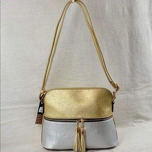Bicolor Lunar Dome Crossbody Bag